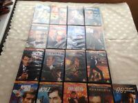 JAMES BOND VHS VIDEO'S