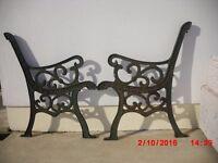 Vintage cast iron seat ends