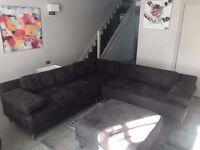 Dark Grey Habitat Scala Sofa