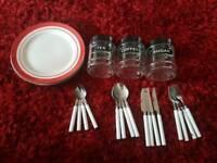 Plates, cutley, tea coffee sugar pots