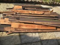 Timber from former shed for firewood etc