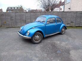 VW Beetle Classic 1973 1300 (Free Road Tax)