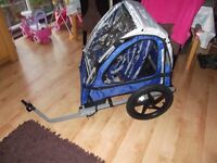Inset 2 seat kids cycle trailer excellent condition unused