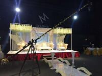 Camera Crane Jib Hire for Wedding filming cinematography wedding operator 5d mk3 & C100 mk2