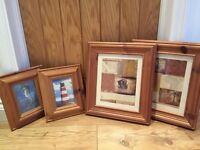 4 X chunky wooden picture frames
