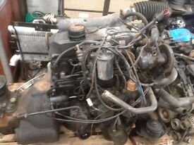 MERCEDES 814/607 TRUCK ENGINE AND BOX . CABLE PUMP NONE TURBO, IDEAL EXPORT