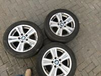 """Genuine 16"""" BMW complete set of alloy wheels with tyres"""