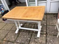 Vintage style painted wooden table