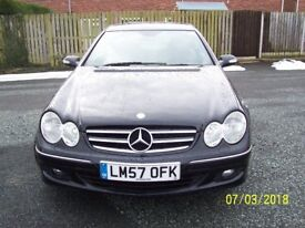 MERCEDES-BENZ CLK AVANTGARDE 200 KOMPRESSOR AUTO 184 BHP BLACK with LEATHER interior trim