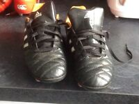 Adidas rugby boots size3 great condition reason for selling to small pick up Abercynon