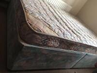 Double divan bed with mattress-Free delivery