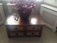 Bookshelf and matching CoffeeTable (solid wood)