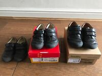 3 pairs of girls Froddo school shoes. sizes 25,26 and 28. Two pairs with original boxes