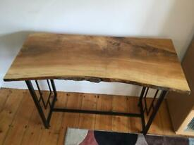 Modern beautiful natural ash topped console table.