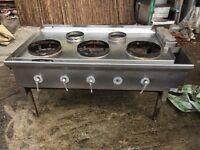 5 burner commercial gas 'cooker