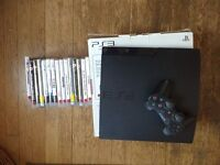 PS3 slim 320gb excellent condition + 15 games + controller