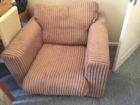 Chunky 1 seat sofa soft fabric