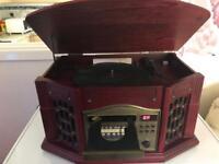 MUSIC CENTRE MODEL BU/SB513798 WITH TURNTABLE, AM/FM RADIO, CD & CASSETTE PLAYER tel 07734 204830