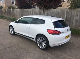 VW SCIROCCO 2012 BLUEMOTION TDI WITH BLACK VIENNA LEATHER AND SAT NAV