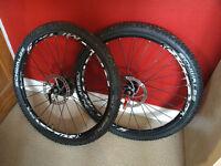 Red metal 5 Fulcrum 26 in moutain bike wheels