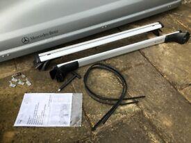 Audi A4 Avant Rail Bars 8K9071151C and 330l Silver Roof Top Box