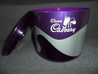 """Choose CADBURY"" - Very Unusual Purple 3 Piece Ice Bucket - CADBURY'S CHOCOLATE"