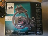PLAYSTATION 3 OFFICIAL LOGITECH DRIVING FORCE GT. STEERING WHEEL + ACCELERATOR/BRAKE PEDAL.DELIVERY