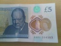 5£ note