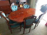 Italian Dining Table and 6 chairs