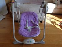 Lovely Chicco baby swing