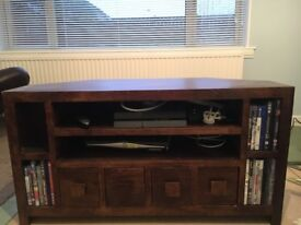 Tv unit - solid wood, walnut, excellent condition