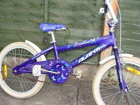 """Girls Diana purple Butterfly Bike 20"""" Wheels"""