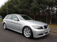MARCH 2006 BMW 330D AUTOMATIC SE TOURING TITANIUM SILVER ZENONS LEATHER FULL SERVICE HISTORY SUPERB!