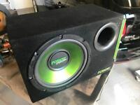 Fusion sub woofer and amp for in car audio