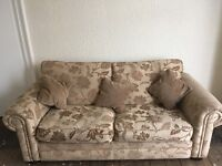 Large sofa & chair with foot stool