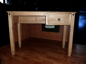 Used Corona Mexican Budget 1 Drawer Wooden Computer Table Work Station Desk
