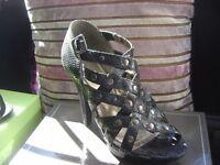 3 pairs of ladies high heels, 1 pair never worn, 2 pairs worn once Size 6