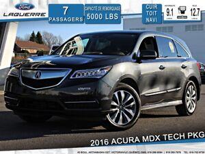 2016 Acura MDX TECH PKG**AWD*7 PLACES*CUIR*TOIT*NAVI* CAMERA**