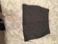 Top shop grey woollen skirt