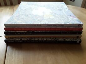 5 COLOURING BOOKS - Magical City. Tropical Wonderland. Lost Ocean. Enchanted Forest. Swecret Garden
