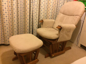 Rocking chair and footstoll - good condition