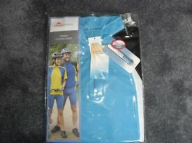 "UNISEX CYCLING SHIRT NEW STILL PACKAGED - LAIDES 10-12 MEN'S 32-34"" CHEST, COOL MAX FABRIC"