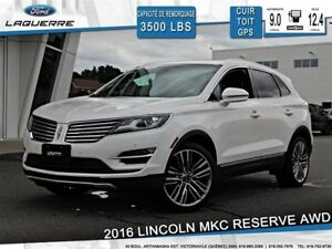 2016 Lincoln MKC RESERVE**TECH PKG*AWD*2.3L*TOIT*GPS*HITCH*20.PO
