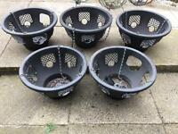 5x easy Fill Hanging Baskets 12 inch