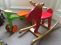 Rockinghorse (moose) and trike bundle.
