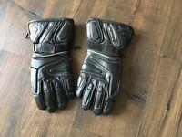 Men's black motorcycle gloves