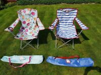 Designer - Joules - LAZY PACK AWAY PICNIC CHAIR x 2