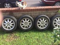 Jaguar magnesium alloy rims 205 55 16 unmarked £50 ea or £150 set