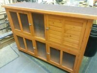 Rabbit hutch two tier brand new and unused