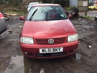 2001 Volkswagen Polo Se Auto 5dr Hatchback 1.4 Petrol Red BREAKING FOR SPARES